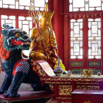 Čínský drak a budha