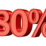 Osmdesát procent sleva