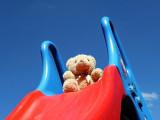 medvídek na klouzačce